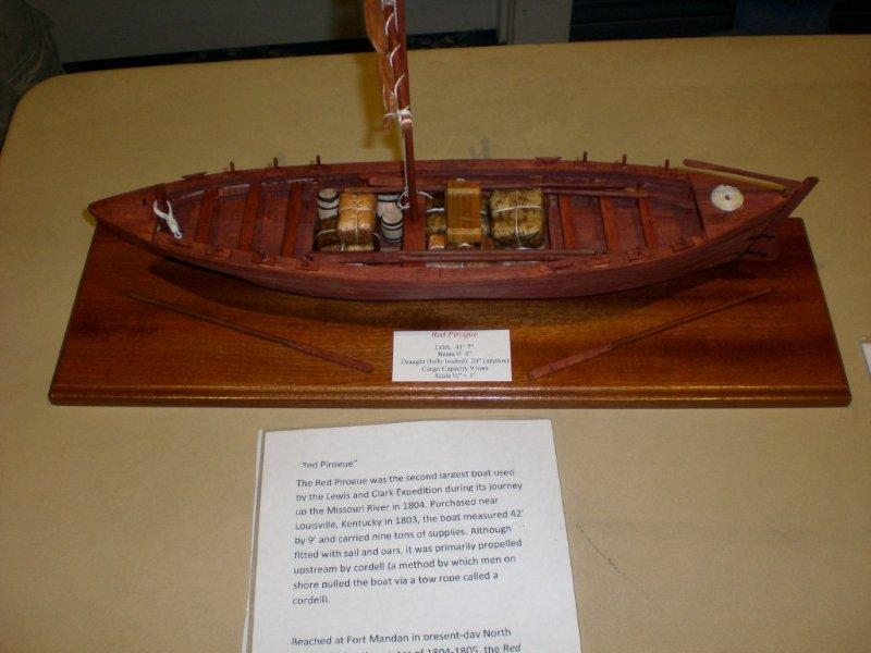 LEWIS AND CLARKS RED PIROGUE SHIP BY CARSON WIEDEMA