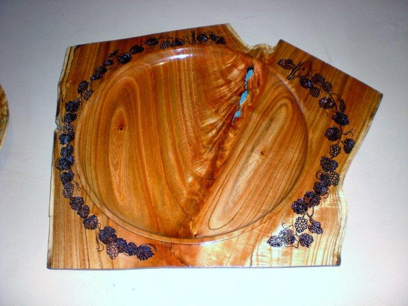 WINGED PLATTER BY LARNIE CROS