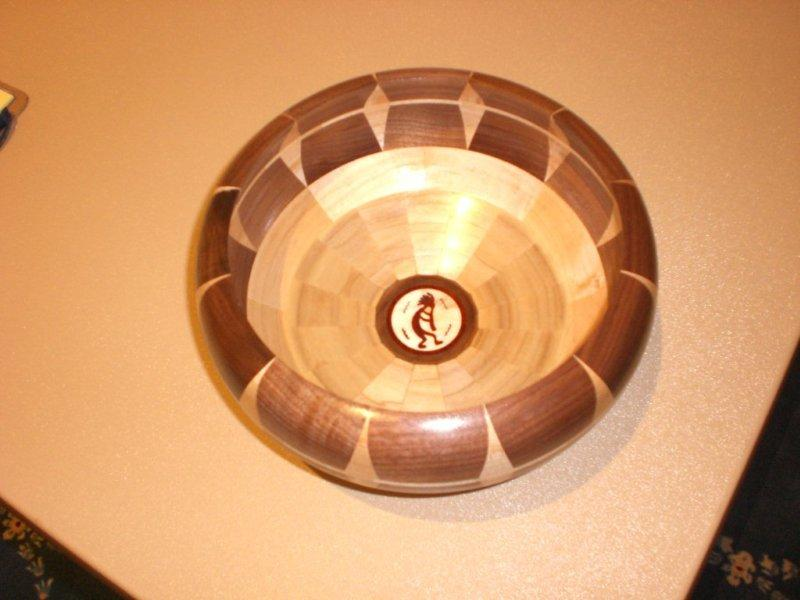 BOWL DESIGNED BY SKIP BANKS AND TURNED BY STEVE YOVA