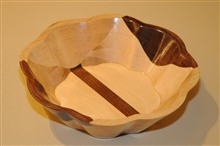 Scalloped Bowl   One  By Wayne Dombroski