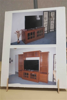 Two Stage Entertainment Center By Tom Kitto