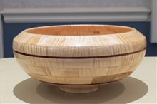 Segmented Bowl Side View By Skip Banks