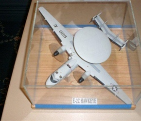 AIR FORCE MODEL PLANE, HAWKE-EYE MADE BY CARSON WIEDERMAN