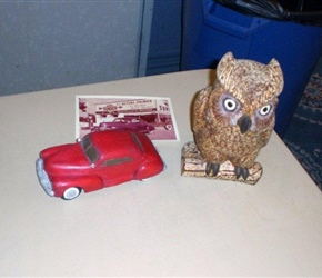 OWL AND CAR CARVINGS BY BILL  MCGINNIS.jpg