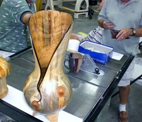 NATURAL EDGED FLOOR VASE BY RAY ROBERT
