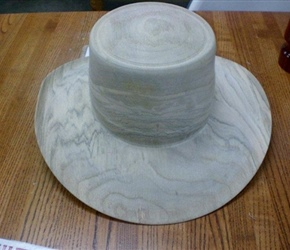 HAT MADE BY RON BROWNING AT HIS SUNDAY DEMO IN VWC BUILDIN