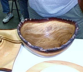 NATURAL EDGE BOWL BY JERRY CZARN