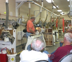 RON BROWNING TURNIN BOWL IN DEMO ON  DIFFERENT GRINDS ON TOOL