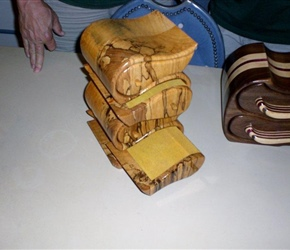 JEWELRY BOX MADE OUT OF SPALDED WOOD BY RICHARD BENDER