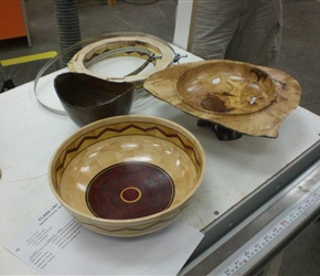 SEGMENTED BOWL  WINGED BOWL AND NATURAL EDGED BOWL BY LARNIE CROS.jpg