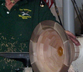 04 WORKING ON OUTSIDE OF BOWL FIRST WITH BOWL GOUG.jpg